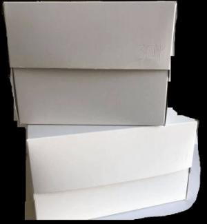 Κουτία Ζαχαροπλαστικής Υπερυψωμένα – Λευκά