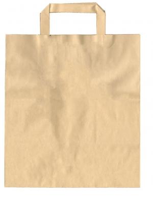 Χάρτινη Τσάντα, χρώμα KRAFT, 26x17x29cm