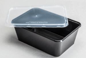 Σκεύος Microwave Μαύρο ορθογώνιο
