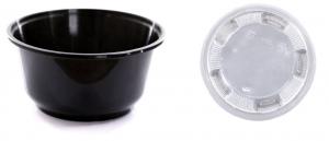 Σκεύος Microwave σετ στρογγυλό με καπάκι διάφανο 700CC